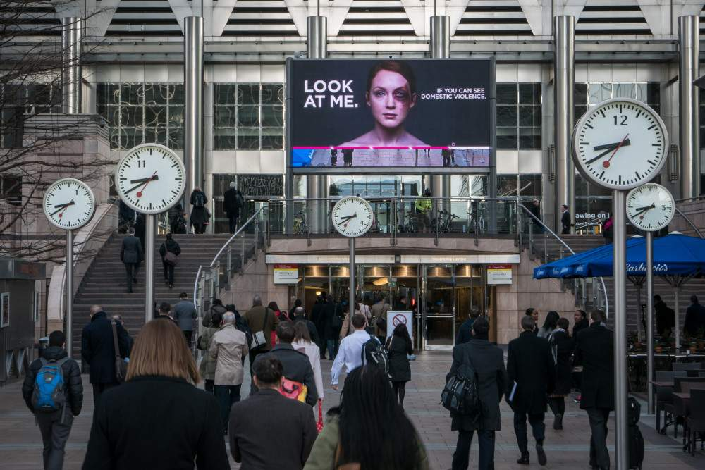 Womens Aid Outdoor Advert